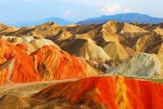 Horizontal coloré de montagne Image stock
