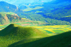 Horizontal coloré de montagne Photos stock