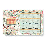 Horizontal color calendar 2016 in the Zentangle Stock Images