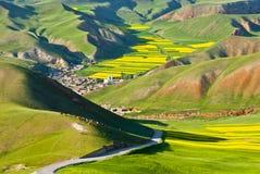 Horizontal coloré de montagne Photographie stock