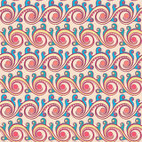 Horizontal color pattern with swirls Stock Images