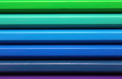 Horizontal color pencils gradient spectrum texture Stock Photography