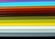Horizontal color pencils gradient spectrum texture Royalty Free Stock Photography