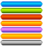 Horizontal colorful banner, button backgrounds. Set of vivid web Royalty Free Stock Images