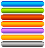 Horizontal colorful banner, button backgrounds. Set of vivid web Stock Photos