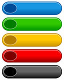 Horizontal Colorful Buttons Set Royalty Free Stock Image