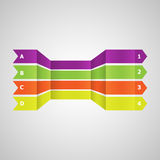 Horizontal colorful  lines in perspective Stock Photos