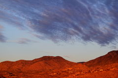 Horizontal Colorful Santa Catalina red mountain sunset in Tucson, Arizona Royalty Free Stock Photos
