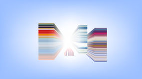 Horizontal colorful stripes abstract background, stretched pixels effect. Stock Photography