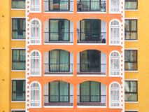 Horizontal condominium building multiple floor Royalty Free Stock Photos