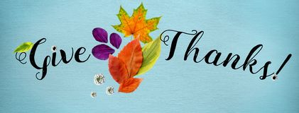 Horizontal cover for Happy Thanksgiving site royalty free stock images