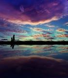 Horizontal crépusculaire Photographie stock libre de droits