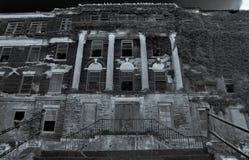 Horizontal Creepy Abandoned Haunted Hospital. Dark Scary Abandoned Haunted Hospital royalty free stock images