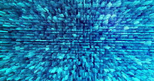 Horizontal cyan extruded blocks background Stock Photography