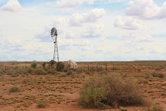 Horizontal désolé de désert Photographie stock libre de droits