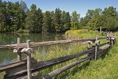 Horizontal d'été au Canada oriental Images libres de droits