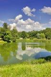 Horizontal d'été avec des nuages Images stock