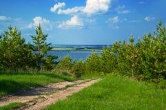 Horizontal d'été avec la route photos stock