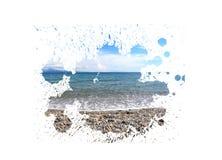 Horizontal d'été de peinture Photographie stock libre de droits