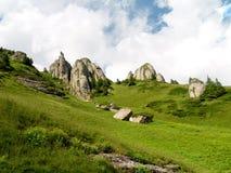 Horizontal d'été en montagnes de Ciucas Images libres de droits