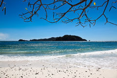 Horizontal d'île de plage photos libres de droits