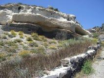 Horizontal d'île de Santorini Image libre de droits