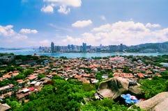 Horizontal d'îlot de Gulangyu Photographie stock