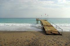 Horizontal d'Alanya avec des chemins de découpage Photo stock