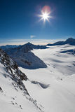 Horizontal d'Alpes Image stock