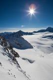 Horizontal d'Alpes image stock