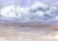 Horizontal d'aquarelle Fond d'image d'aquarelle - composition décorative Photo stock