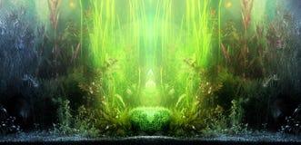 Horizontal d'aquarium Photo libre de droits