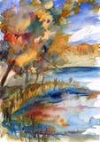 Horizontal d'automne. Image libre de droits