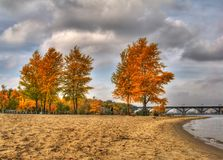Horizontal d'automne de HDR   Photo libre de droits