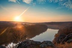 Horizontal d'automne de montagne Photographie stock