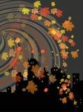 Horizontal d'automne de nuit illustration stock