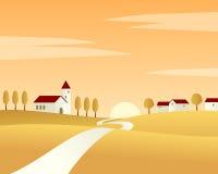 Horizontal d'automne de route de campagne Image libre de droits