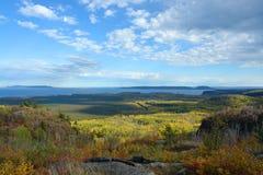 Horizontal d'automne de Thunder Bay Photo stock