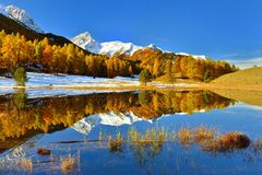 Horizontal d'automne en Suisse Photos libres de droits