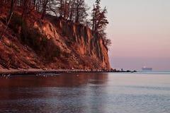 Horizontal d'automne par la mer Images libres de droits