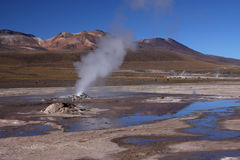Horizontal d'EL Tatio Photographie stock libre de droits