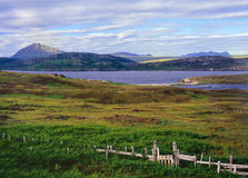 Horizontal d'Eriboll de loch, Sutherland, Ecosse Photographie stock