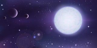 Horizontal d'espace extra-atmosphérique Images libres de droits