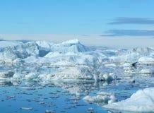 horizontal d'iceberg Images libres de droits