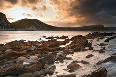 Horizontal d'océan de lever de soleil de Bbeautiful Image libre de droits