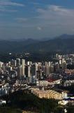 Horizontal d'une ville intérieure dans la porcelaine Images libres de droits