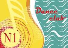 Horizontal dance club banner with sea motive Stock Photography