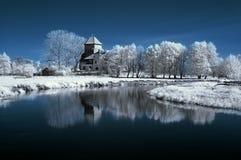 Horizontal dans l'infrarouge Photographie stock
