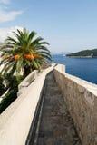 Horizontal dans la ville de Dubrovnik en Croatie Images libres de droits