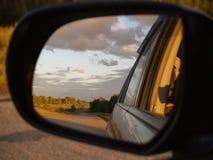 Horizontal dans le miroir Images libres de droits